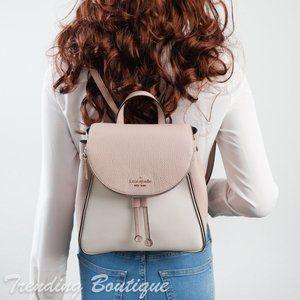 NWT Kate Spade Leila Colorblock Flap Backpack